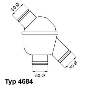 Thermostat, Kühlmittel WAHLER 4684.83/1 mit 15% Rabatt kaufen