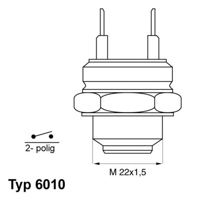 Original AUDI Thermoschalter Lüfter 6010.95D
