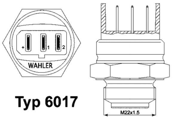 Original AUDI Lüfterschalter 6017.95D