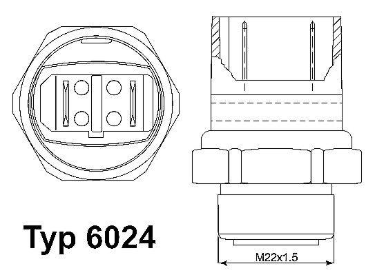 Original AUDI Temperaturschalter, Kühlerlüfter 6024.95D