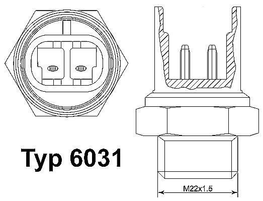 Original BMW Temperaturschalter, Kühlerlüfter 6031.105D