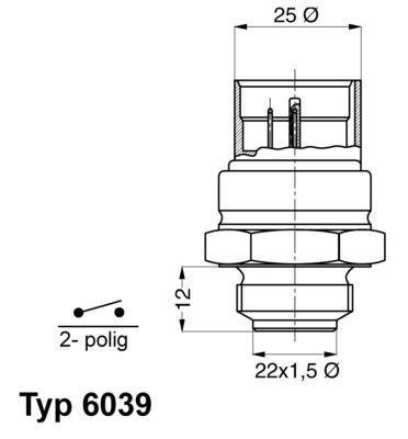 Original AUDI Lüfterschalter 6039.95D