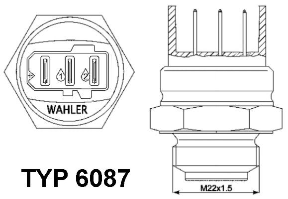 METZGER Temperaturschalter Kühlerlüfter 0915186 für AUDI VW