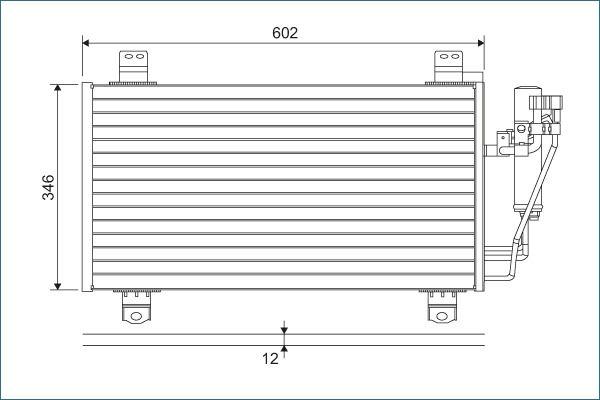 MAZDA CX-3 2019 Klimakondensator - Original VALEO 822589