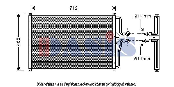 Kühler, Motorkühlung AKS DASIS 270080T mit 34% Rabatt kaufen