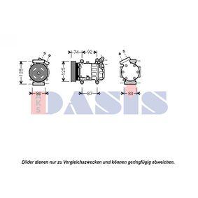851609N AKS DASIS PAG 46, Kältemittel: R 134a Riemenscheiben-Ø: 125mm Kompressor, Klimaanlage 851609N günstig kaufen