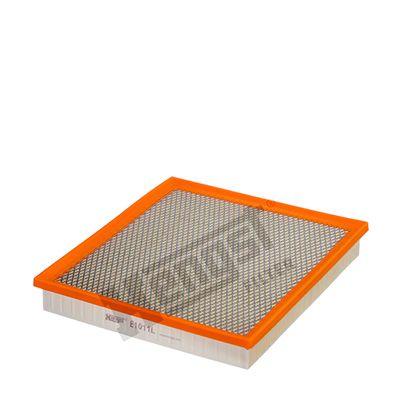 HENGST FILTER: Original Luftfiltereinsatz E1011L (Länge: 290mm, Länge: 290mm, Breite: 258mm, Höhe: 41mm)
