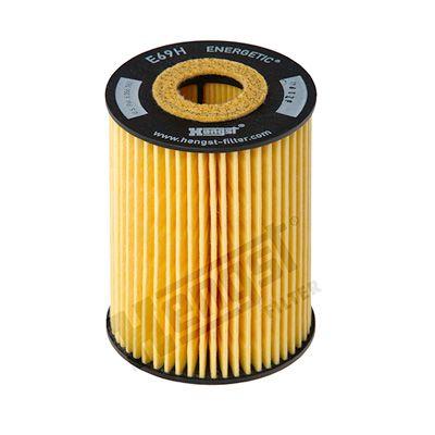 HENGST FILTER: Original Ölfilter E69H D81 (Innendurchmesser 2: 25mm, Innendurchmesser 2: 25mm, Ø: 73mm, Höhe: 102mm)