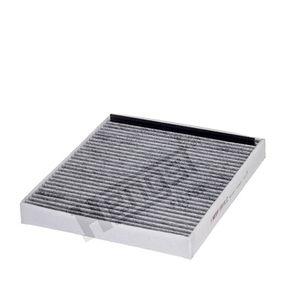 1093310000 HENGST FILTER Aktivkohlefilter Breite: 243,0mm, Höhe: 40,0mm, Länge: 276,0mm Filter, Innenraumluft E911LC günstig kaufen