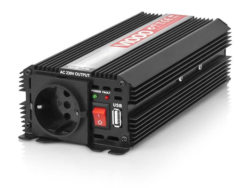 5854# BLOW V1000 max. 1000W, mit Schellen, mit Schutzkontaktsteckdose, mit Sicherung, mit Stecker für Zigarettenanzünder Wechselrichter 5854# günstig kaufen