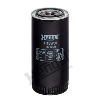 H18W01 HENGST FILTER Oil Filter for IVECO P/PA - buy now