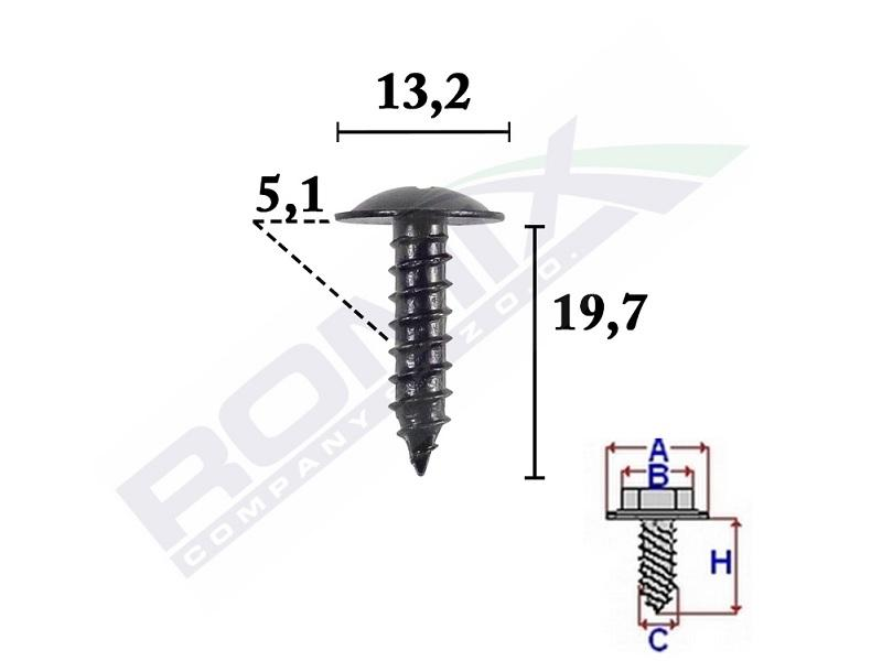 Car spare parts VW 166 1944: Screw ROMIX C70593 at a discount — buy now!