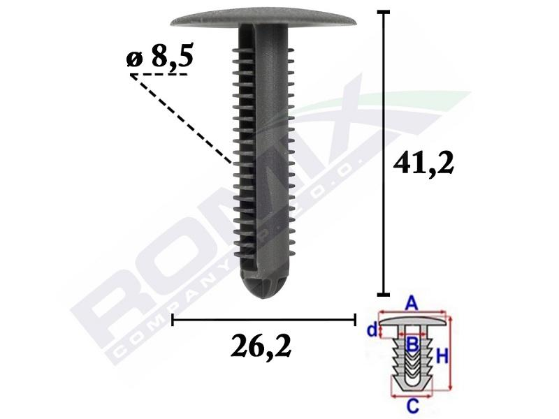 ROMIX: Original Schutzleisten C70608 ()