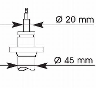 373019 KYB Ultra SR Vorderachse, Gasdruck, Zweirohr, Federbeineinsatz, oben Stift Stoßdämpfer 373019 günstig kaufen