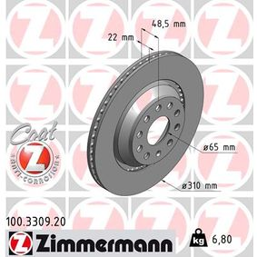 100.3309.20 Brake Disc ZIMMERMANN - Experience and discount prices