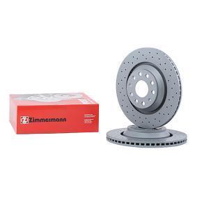 100.3309.52 ZIMMERMANN SPORT BRAKE DISC COAT Z Externally Vented, Perforated, Coated, High-carbon Ø: 310mm, Num. of holes: 5, Brake Disc Thickness: 22mm Brake Disc 100.3309.52 cheap