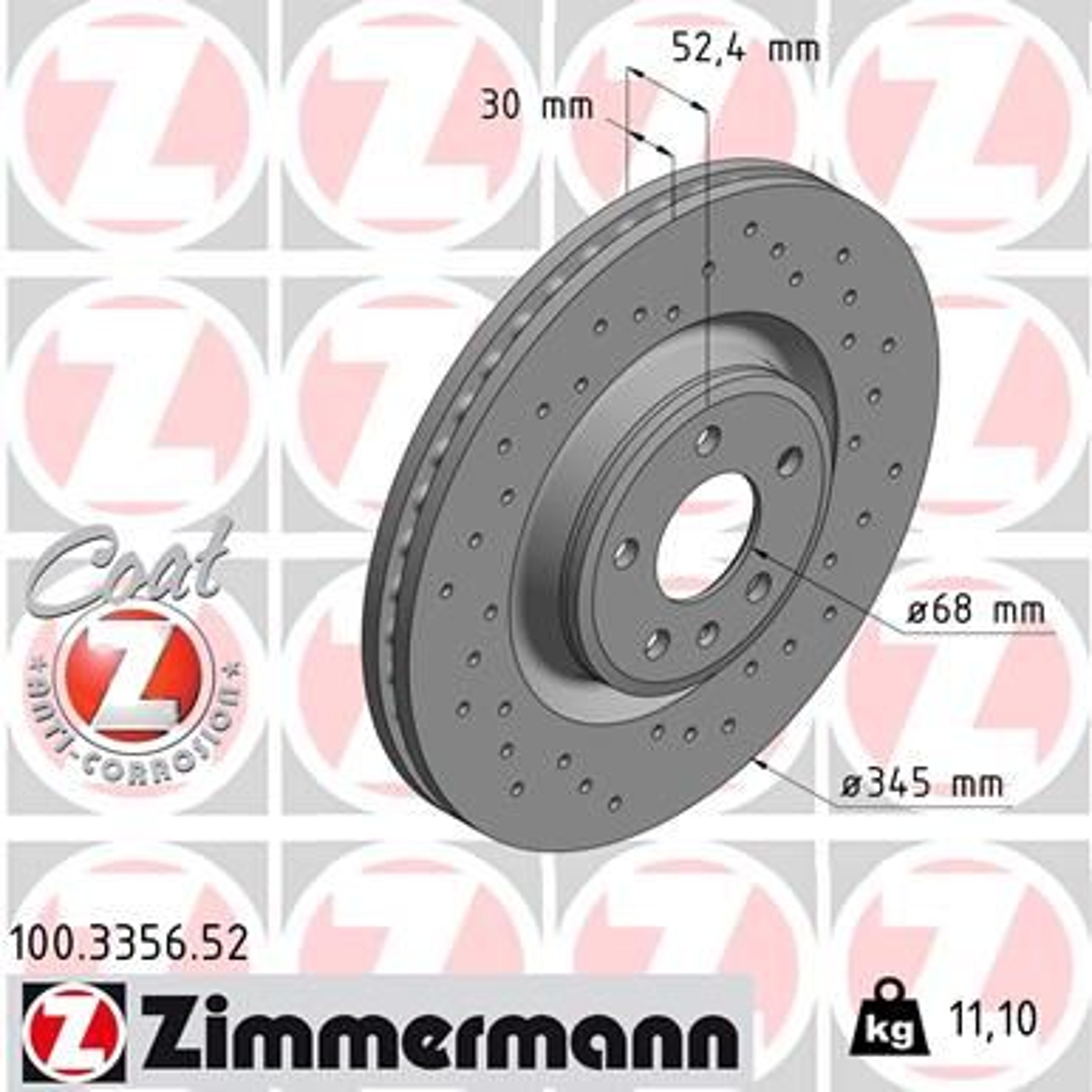 Bremsscheibe ZIMMERMANN 100.3356.52 Bewertungen