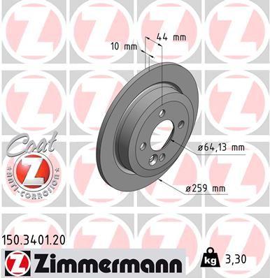 ZIMMERMANN Bremsscheibe 150.3401.20