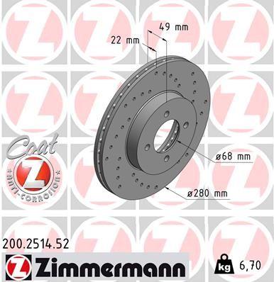 Original NISSAN Scheibenbremsen 200.2514.52