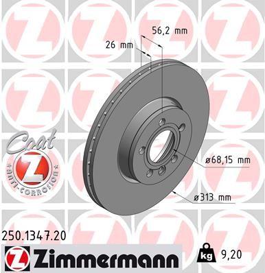 Bremsscheibe ZIMMERMANN 250.1347.20 Bewertungen