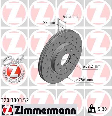 ZIMMERMANN Bremsscheibe 320.3803.52