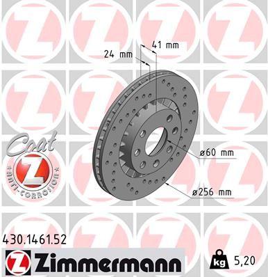 Scheibenbremsen ZIMMERMANN 430.1461.52