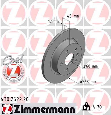 Scheibenbremsen ZIMMERMANN 430.2622.20