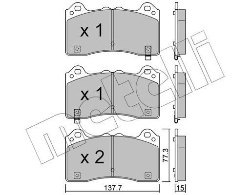Bremsklötze METELLI 22-1220-0