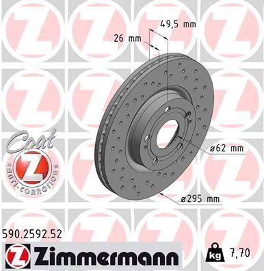 Scheibenbremsen ZIMMERMANN 590.2592.52