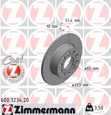 600.3234.20 Scheibenbremsen ZIMMERMANN - Markenprodukte billig