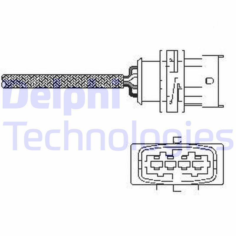 DELPHI: Original O2 Sensor ES10789-12B1 ()