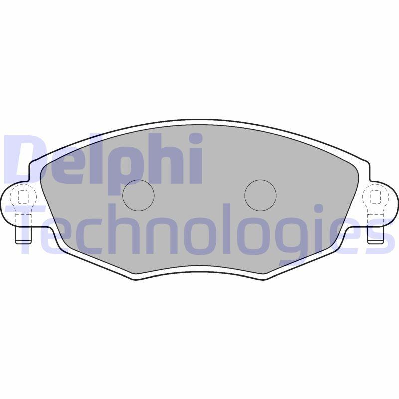 Bremsbelagsatz DELPHI LP1533