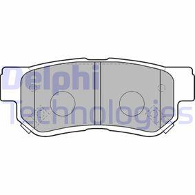 D8637688 DELPHI Höhe: 41mm, Dicke/Stärke 1: 14mm Bremsbelagsatz, Scheibenbremse LP1539 günstig kaufen