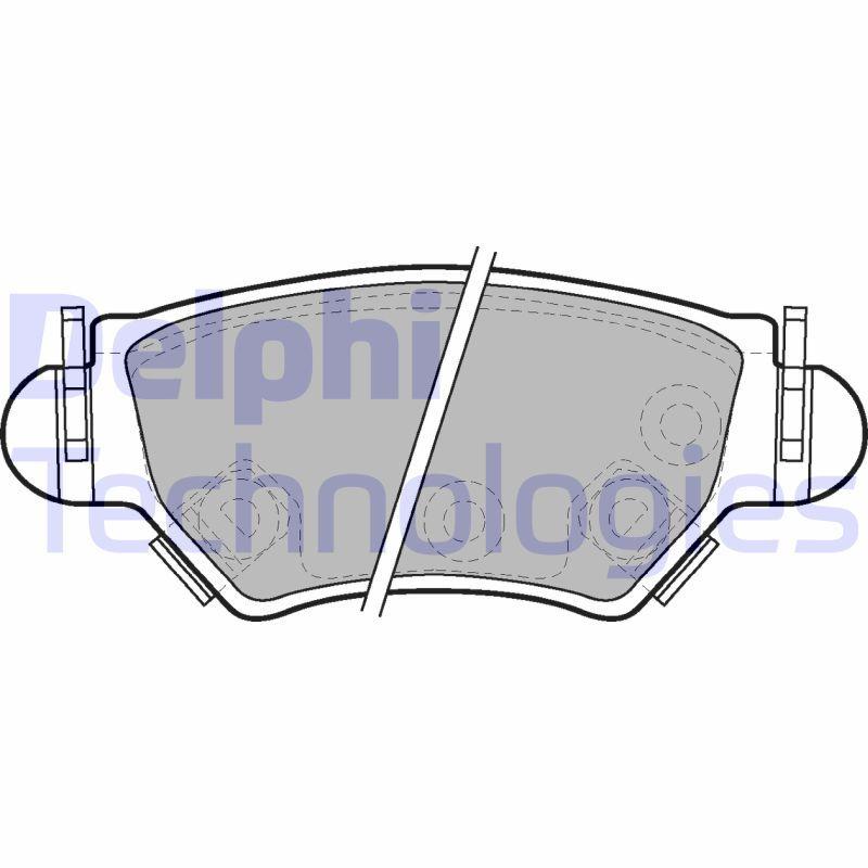 Bremsbelagsatz Scheibenbremse DELPHI LP1553