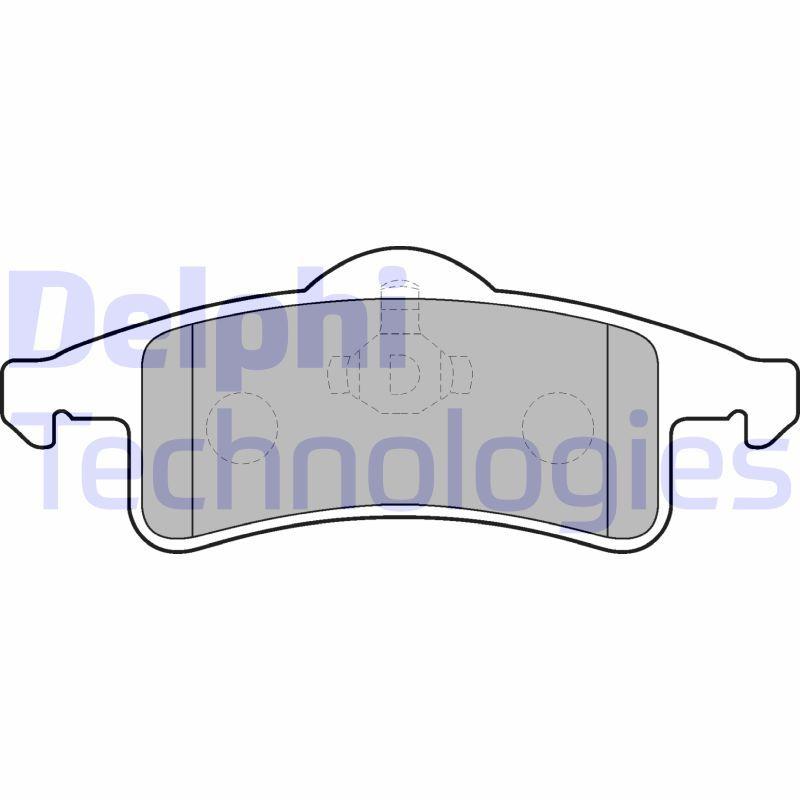 D7917661 DELPHI nicht für Verschleißwarnanzeiger vorbereitet, ohne integrierten Verschleißsensor Höhe 2: 59mm, Höhe: 55mm, Dicke/Stärke 1: 16mm, Dicke/Stärke 2: 16mm Bremsbelagsatz, Scheibenbremse LP1558 günstig kaufen