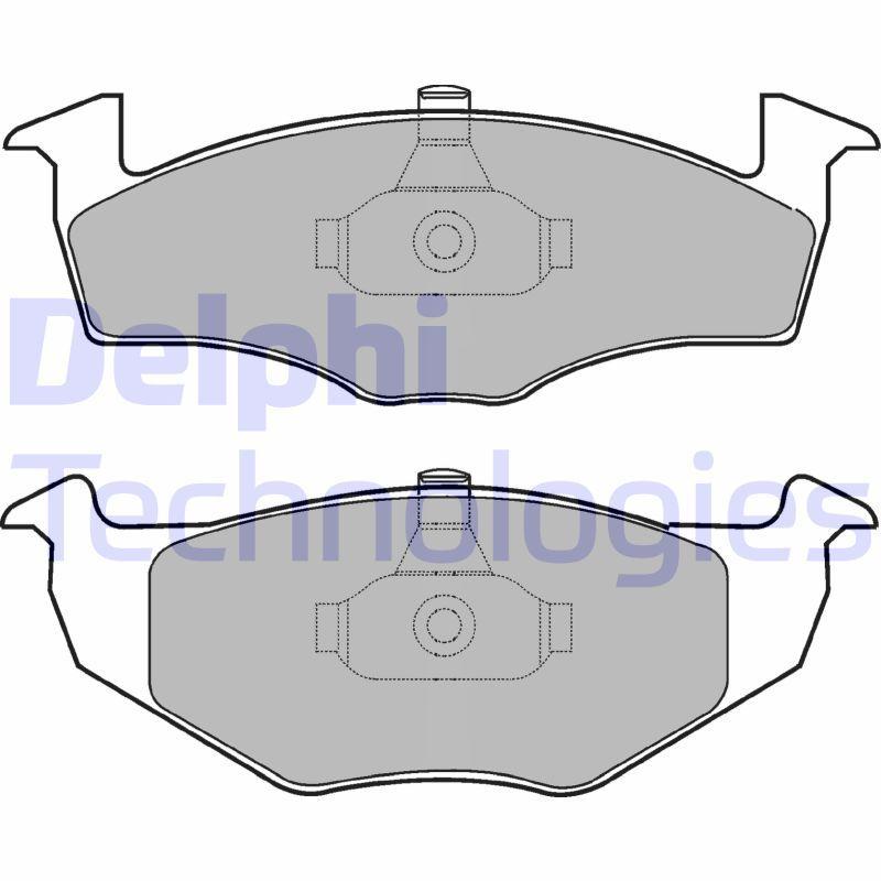 Bremsbelagsatz Scheibenbremse DELPHI LP1601