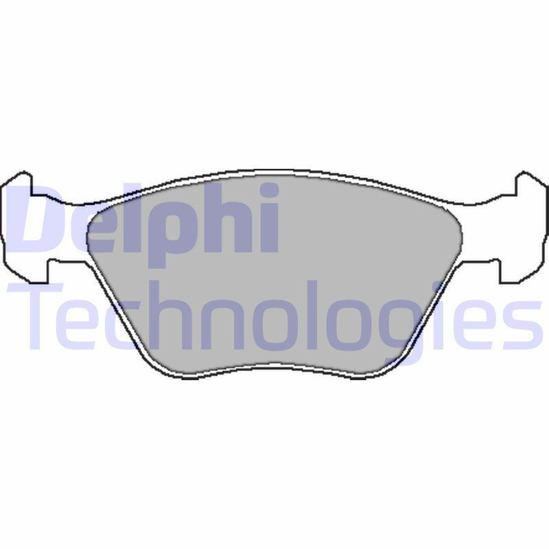 Bremsbelagsatz DELPHI LP1602