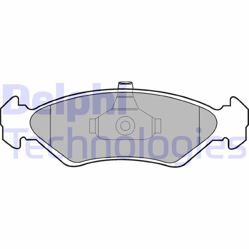 Bremsbelagsatz DELPHI LP1603