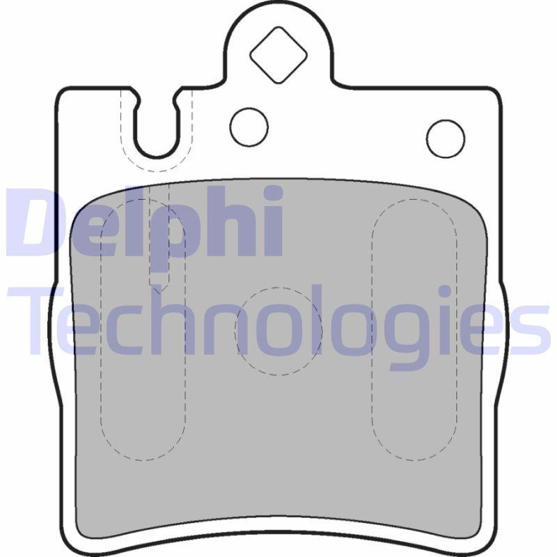 D8767753 DELPHI für Verschleißwarnanzeiger vorbereitet, ohne integrierten Verschleißsensor Höhe 2: 78mm, Höhe: 78mm, Dicke/Stärke 1: 15mm, Dicke/Stärke 2: 15mm Bremsbelagsatz, Scheibenbremse LP1618 günstig kaufen