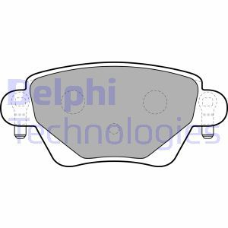 D9117790 DELPHI mit integriertem Verschleißsensor, mit akustischer Verschleißwarnung Höhe: 52mm, Dicke/Stärke 1: 18mm Bremsbelagsatz, Scheibenbremse LP1682 günstig kaufen