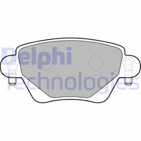 D9117790 DELPHI Höhe: 51,7mm, Dicke/Stärke 1: 17,7mm Bremsbelagsatz, Scheibenbremse LP1682 günstig kaufen