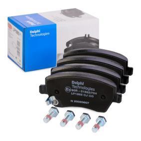 D18589086 DELPHI Höhe: 51,9mm, Dicke/Stärke 1: 16,6mm Bremsbelagsatz, Scheibenbremse LP1865 günstig kaufen