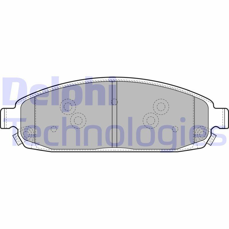 D1080 DELPHI mit akustischer Verschleißwarnung, mit integriertem Verschleißsensor Höhe 2: 57mm, Höhe: 57mm, Dicke/Stärke 1: 19mm, Dicke/Stärke 2: 19mm Bremsbelagsatz, Scheibenbremse LP1931 günstig kaufen