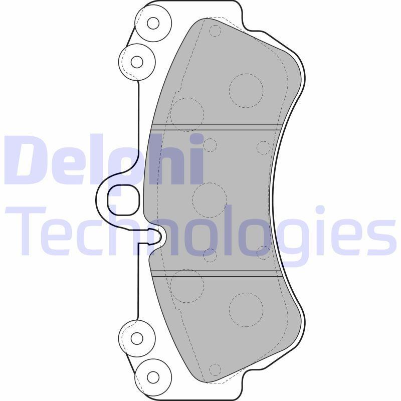 D1007 DELPHI preparado para indicador desgaste, sin sensor de desgaste altura 2: 99mm, Altura: 99mm, Espesor 1: 16mm, Espesor 2: 16mm Juego de pastillas de freno LP2057 a buen precio