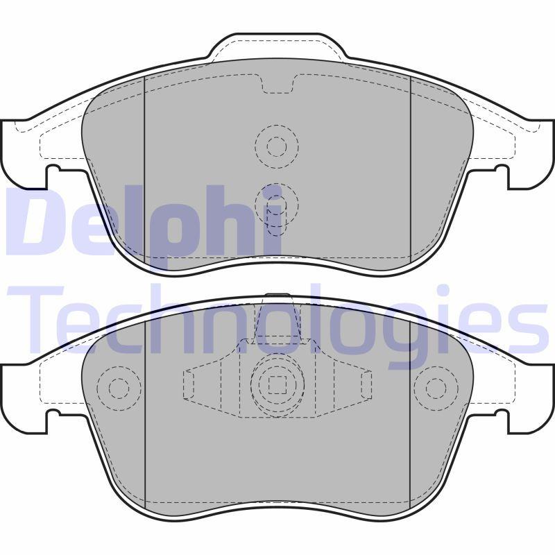 LP2079 DELPHI nicht für Verschleißwarnanzeiger vorbereitet, ohne integrierten Verschleißsensor Höhe 2: 63mm, Höhe: 68mm, Dicke/Stärke 1: 18mm, Dicke/Stärke 2: 18mm Bremsbelagsatz, Scheibenbremse LP2079 günstig kaufen