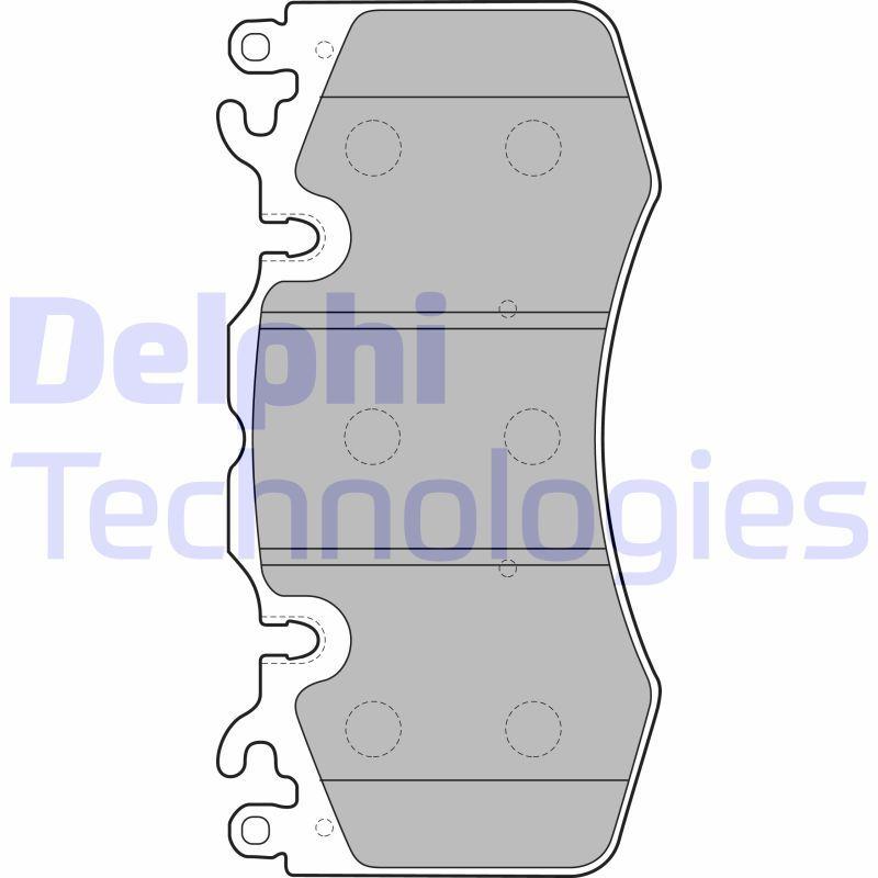 D14268543 DELPHI 1, 52 Höhe 1: 96mm, Höhe 2: 96mm, Breite 1: 190mm, Breite 2: 190mm, Dicke/Stärke 1: 16mm, Dicke/Stärke 2: 16mm Bremsbelagsatz, Scheibenbremse LP2187 günstig kaufen