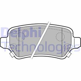 Delphi LP1586 Patin de frein
