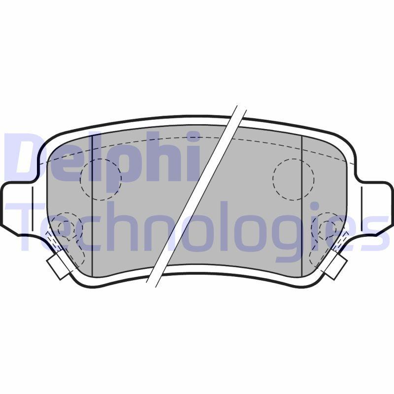 BRAKE PADS Front Axle Delphi LP2186