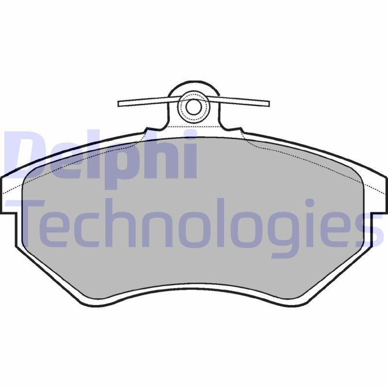 Köp DELPHI LP770 - Bromsar till Volkswagen: ej förberdd för slitvarnarkontakt, utan slitagesensor Höjd 1: 69mm, Höjd 2: 69mm, Br. 1 [mm]: 119mm, Br. 2 [mm]: 119mm, Tjocklek 1: 16mm, Tjocklek 2: 16mm