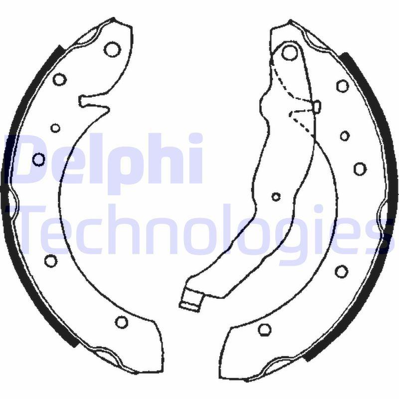 Original TALBOT Bremsklötze für Trommelbremse LS1634